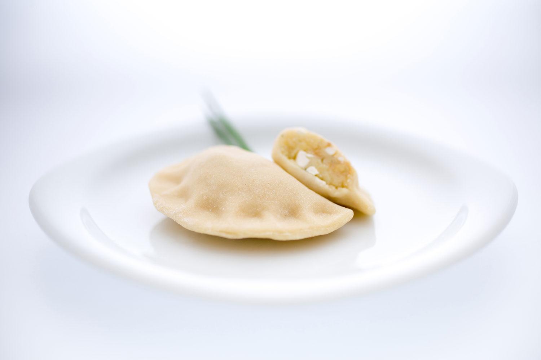 Pierogi mit Kartoffel, Topfen & Zwiebel