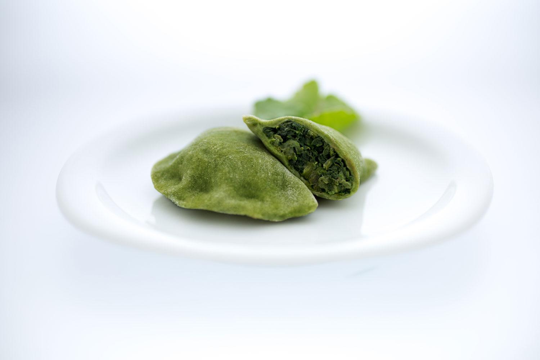 Pierogi mit Spinat, Champignons & Knoblauch